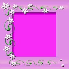 White Flowers Frame Royalty Free Stock Images
