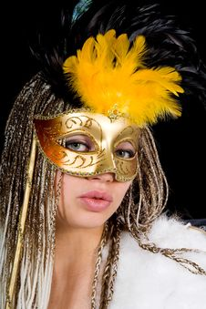 Free Portrait  Girl With Mask Royalty Free Stock Photography - 4340057