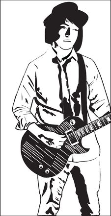 Free Boy Playing Guitar Stock Photos - 4340273