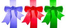 Free Three Satin Bows Royalty Free Stock Images - 4340949
