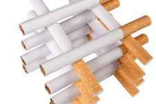 Free Stack Of Cigarettes Royalty Free Stock Image - 4340986