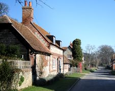 Free English Village Street Royalty Free Stock Photography - 4341147