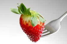 Free Strawberry On A Fork Royalty Free Stock Images - 4341649