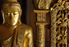 Free Myanmar, Salay: Statue In Salay Monastery Stock Images - 4342284