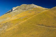 Free Mountain Monte Vettore - Italy Stock Image - 4342311