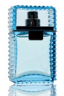 Free Blue Perfume Bottle Stock Image - 4342631