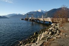 Free Dock At Porteau Cove Provincial Park Royalty Free Stock Image - 4343686
