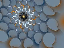 Free 3D Spiral Fractal Stock Image - 4344411