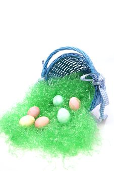 Free Easter Eggs And Basket Royalty Free Stock Photo - 4344465