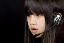 Free Teenager With Headset Stock Images - 4344784