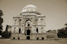 Free Mughal Architecture At Lodhi Gardens, Delhi Royalty Free Stock Photography - 4345017