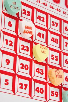 Free Hearts Bingo Royalty Free Stock Photos - 4345178