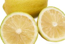 Free Closeup Of Three Lemons On White Royalty Free Stock Images - 4345679