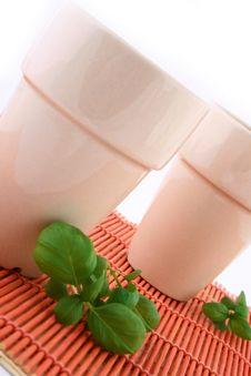 Free Two White Mug Stock Photos - 4345733