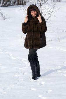 Free Woman In Fur Royalty Free Stock Image - 4346116