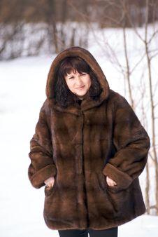 Free Woman In Fur Stock Photo - 4346150