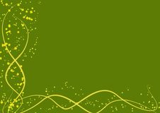 Free Background With Yellow Lines And Leaves Clovers Royalty Free Stock Photo - 4346365