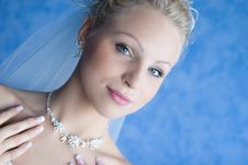 Free Beatiful Bride With A Necklace Stock Photos - 4346383