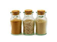 Sand In Bottles Stock Photos