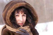 Free Woman In Fur Stock Photo - 4346540
