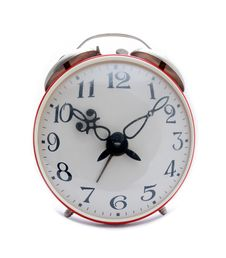 Free Red Alarm Clock Royalty Free Stock Photography - 4346667