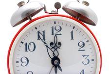 Free Red Alarm Clock Stock Photo - 4346680