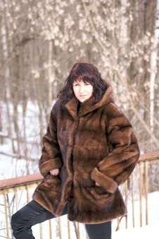 Free Woman In Fur Stock Photography - 4346772