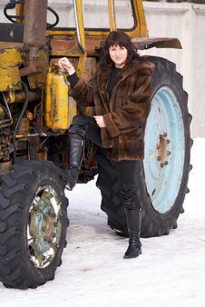 Free Woman In Fur Stock Photo - 4346820
