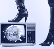 Free Boot And Tv Stock Photo - 4346990