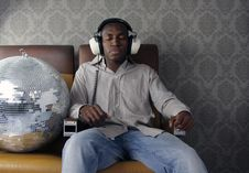 Free Man With Headphones Royalty Free Stock Images - 4347009