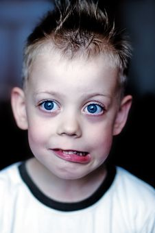Free Child With Big Blue Eyes Royalty Free Stock Photos - 4347298