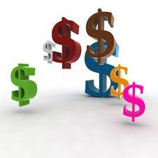 Free Dollar Symbols Royalty Free Stock Image - 4347746
