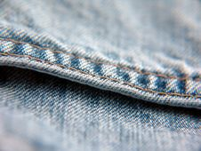 Free Denim With Seam Royalty Free Stock Photography - 4348107