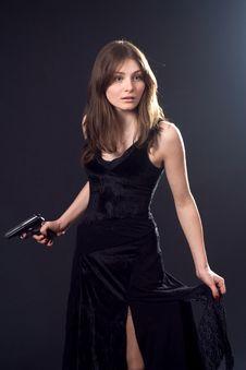 Free Lady And Gun Stock Photos - 4349003