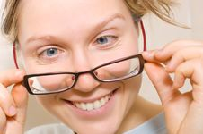 Free Woman With Glasses Stock Image - 4349301