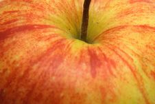 Free Detail Of A Red And Yellow Apple Stock Photography - 4349792