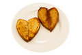 Free Two Heart-shaped Toast Stock Photo - 43415980