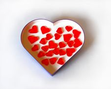 Free Hearts In Heart Box Royalty Free Stock Photography - 4350147