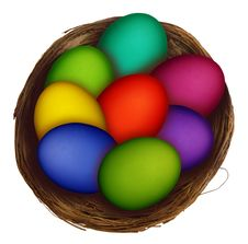 Free Easter Eggs Nest Royalty Free Stock Photos - 4350548