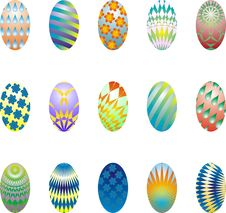 Free Easter Eggs Collection 1 Stock Images - 4350664