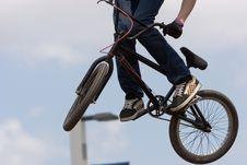 Free BMX Biker Airborne Stock Photography - 4350972