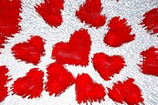 Free Red Hearts Background Royalty Free Stock Photo - 4352255