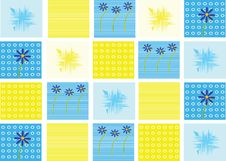 Free Blue-yellow Background Royalty Free Stock Photography - 4352737