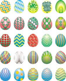 Free Easter Eggs Collection 2 Stock Photo - 4352750