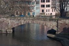 Free Strasbourg Bridge Scene Royalty Free Stock Photography - 4352847