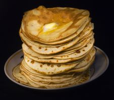Pancakes. Butter Stock Image