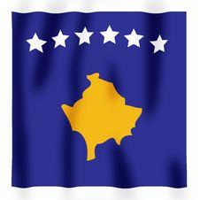Free Kosovan Flag 2 Royalty Free Stock Photography - 4353297