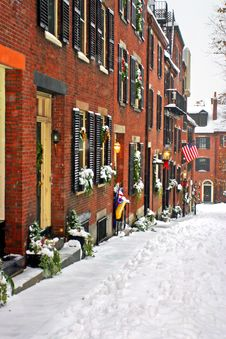 Free Boston Winter Stock Image - 4353531