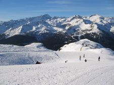 Free Sunny Ski Run Stock Photo - 4354000