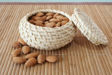 Free Almonds In The Basket Stock Images - 4354084